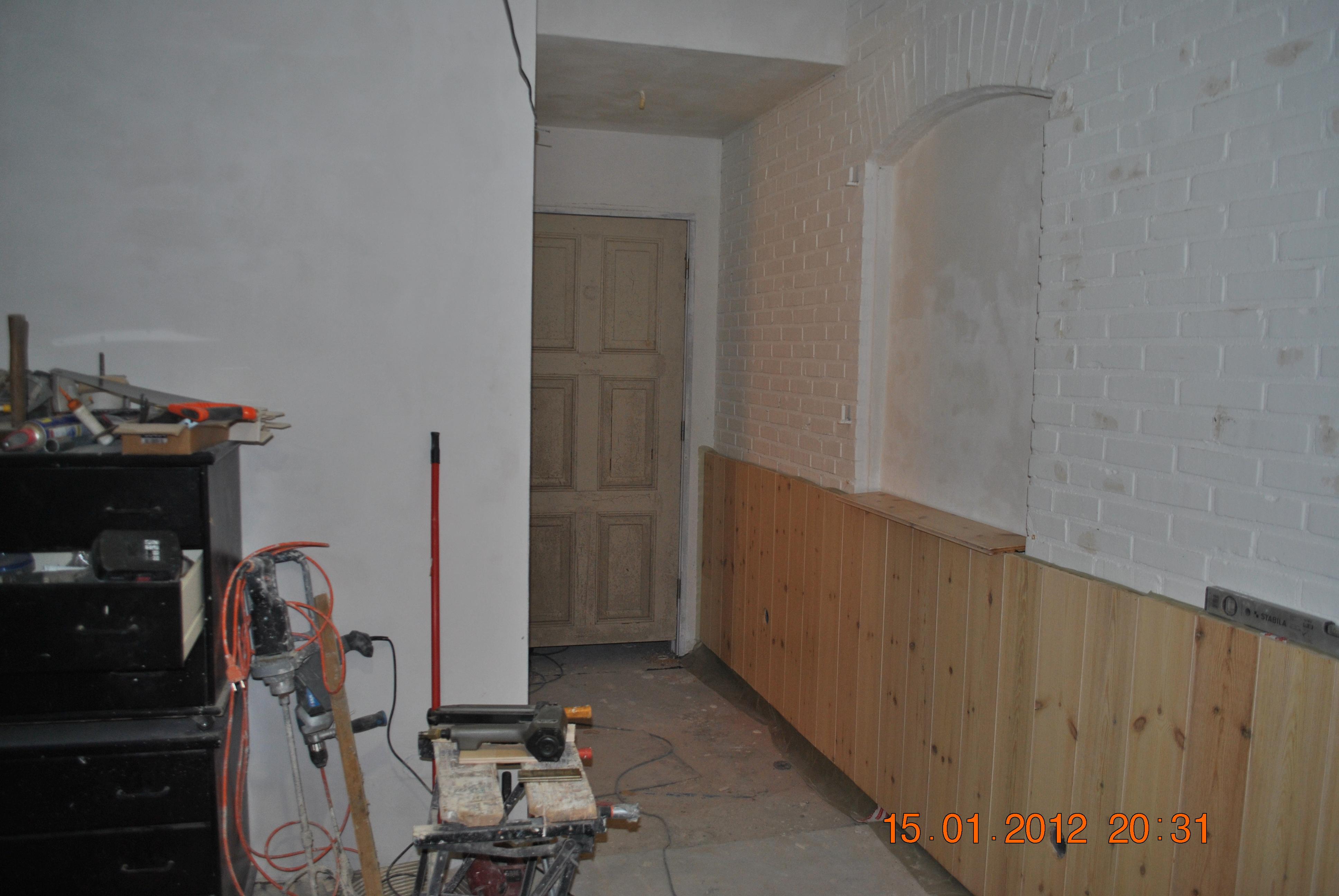Zondag 22 januari 2012 b b de stapper velden for Houten lambrisering in de badkamer